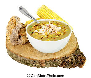 Fresh Chicken And Sweetcorn Soup - Fresh chicken and...