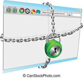 internet safety - A conceptual illustration of internet...