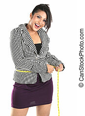 Smiling woman for loosing weight - Smiling Businesswoman for...