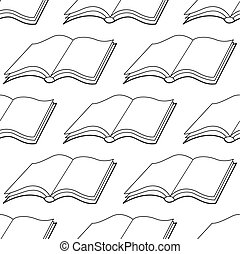 Book icon pattern - Seamless pattern of the open simple...