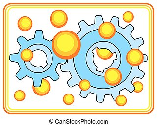 Gear wheel pair - Illustration of the gear wheel pair and...