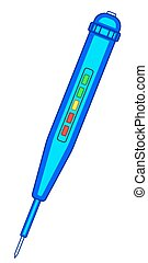 Tester device icon - Illustration of the electric tester...