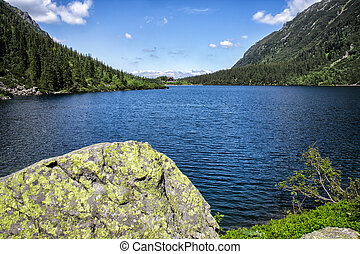 Morskie Oko lake in Tatra Mountains, Poland. - Morskie Oko...