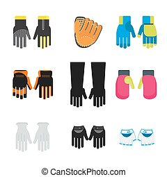 set of gloves
