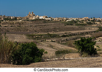 Gharb village on the Gozo island, Malta - Gharb village on...
