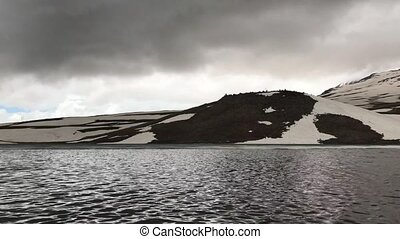 lake Kari, Aragats, Armenia - High mountain lake Kari,...