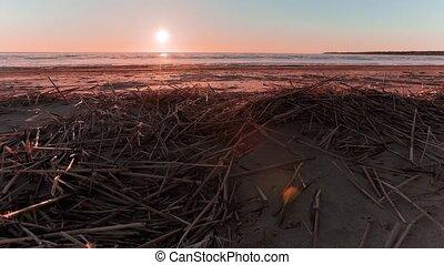 sunset on the beach timelapse