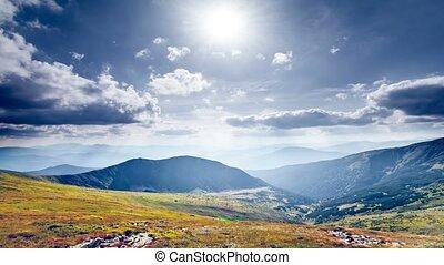 Beautiful mountain panorama. Nature landscape - Beautiful...