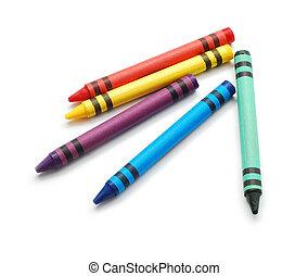 wax crayons isolated