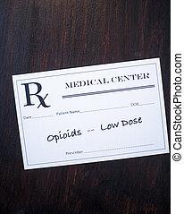 Opioid Prescription - low dose - Opioid prescription with...