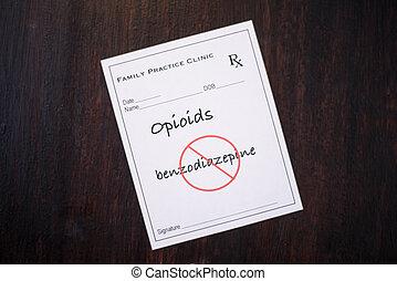 Opioid Prescription - no benzodiazepines - Opioid...