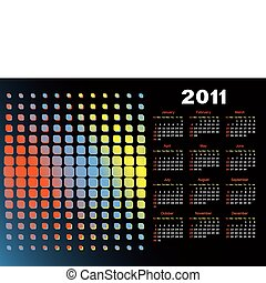 Calendar for a black background. - Calendar for 2011 for a...