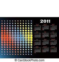 Calendar for a black background. - Calendar for 2011 for a...