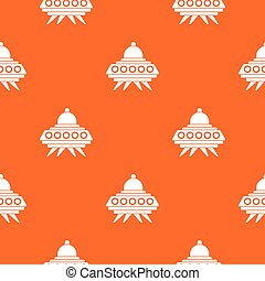 Alien spaceship pattern seamless