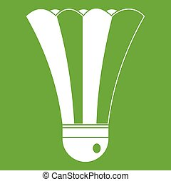 Black and white shuttlecock icon green - Black and white...