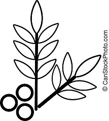 Spa eco leafs icon , outline style - Spa eco leafs icon....