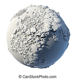 Cubic structure of the planet Earth