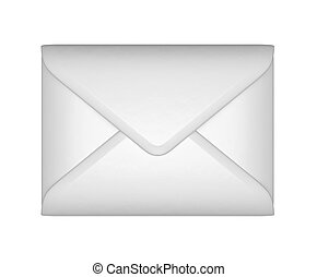 Mail and post - White sealed envelope isolated over white