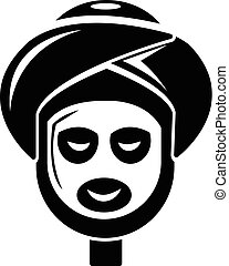 Facial spa treatment icon , simple style