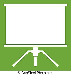 Blank projection screen icon green - Blank projection screen...
