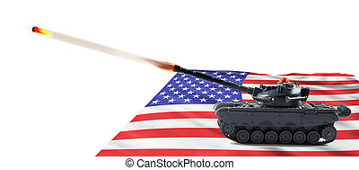 American Fire Power. - American fire power with tank firing.