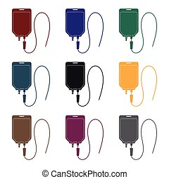 Medicine package.Medicine single icon in black style vector...
