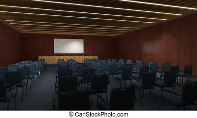 A conference hall