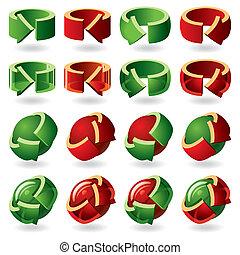 Set of Round Arrow Icons