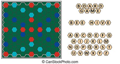 Board game Bee hive, developing erudition, bee honeycomb...