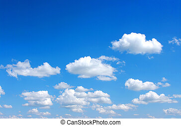 sky - blue sky background with white clouds