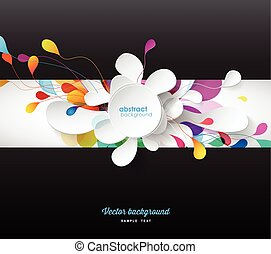 Abstract colored background with flower petals.