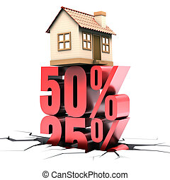 Habitation 50 Off - 50 discount on the sale of home Concept...