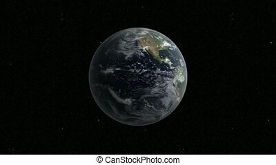 Rotating earth morphing into map - Rotating earth morphing...