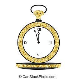 golden christmass clock - Golden vintage christmass clock...