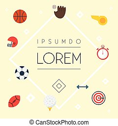 Flat Icons Arrow, Ball, Glove And Other Vector Elements. Set Of Sport Flat Icons Symbols Also Includes Second, Football, Ball Objects.