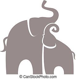 parent and baby elephants