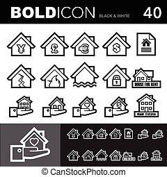 Bold line icons set.Illustration eps 10 - Bold line icons ,...