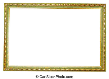 gold frame - Picture gold frame with a decorative pattern