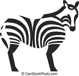 Zebra black silhouette 01 - Zebra silhouette in black 01