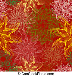 Autumn floral seamless wallpaper,vector illustration