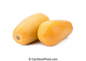 sweet papaya on white background. - sweet papaya on white...