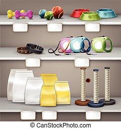 Vector pet shop - Vector illustration of pet shop. Pets...