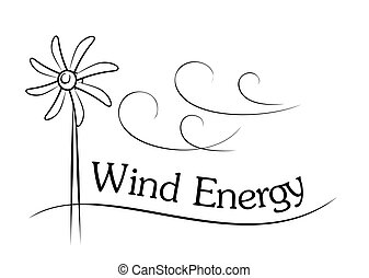 Wind generator. - A wind generator sketch with the wind.