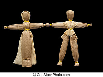 straw doll - Straw has always been an indispensable material...