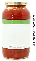 Blank Label Jar of Speghetti Sauce - 26oz jar of marinara...