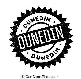 Dunedin rubber stamp. Grunge design with dust scratches....