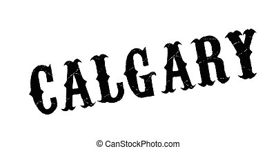 Calgary rubber stamp. Grunge design with dust scratches....