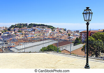 Cityview Lisbon - View to the S. Gorge Castle in Lisbon