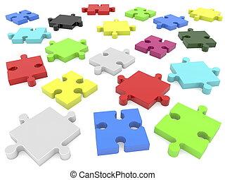 Randomly pieces of puzzle