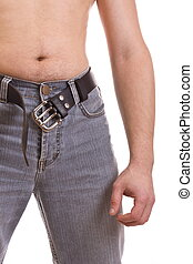 Man's body in jeans - Man's body in jeans, croped image...